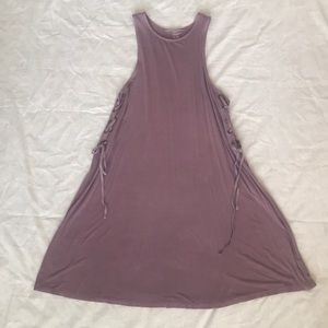 American Eagle purple swimsuit coverup.